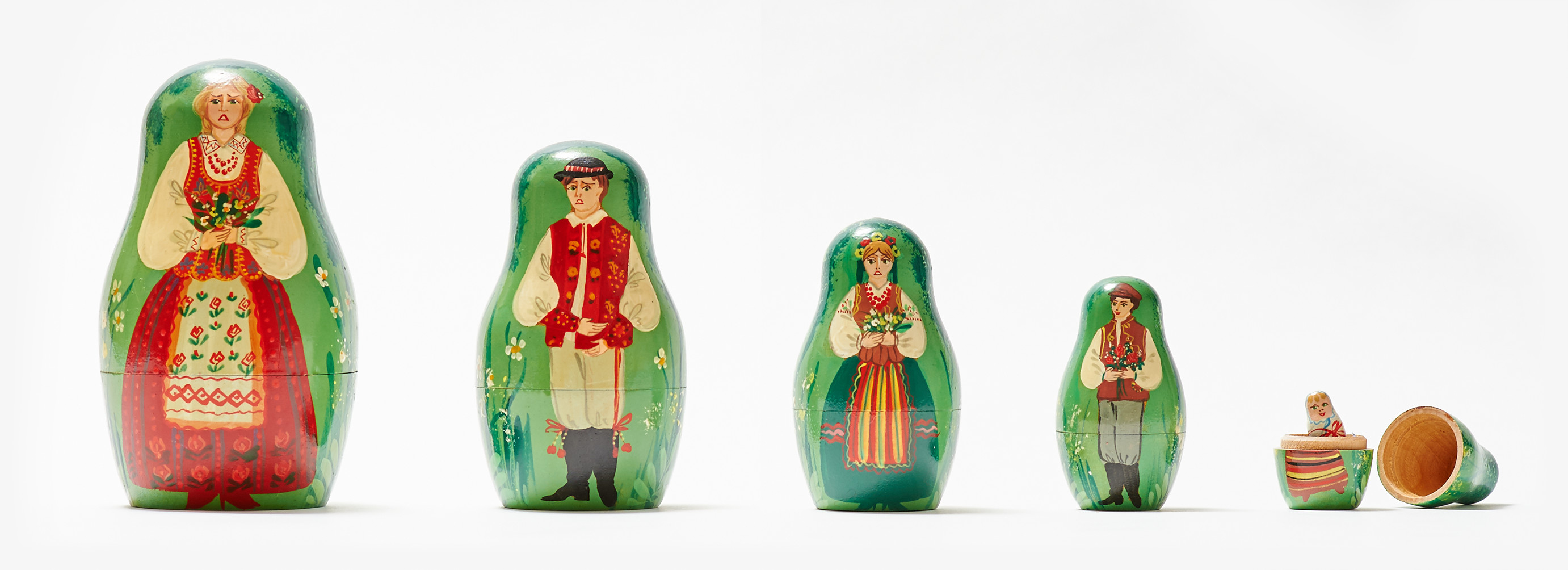 Russian nesting dolls illustrating the pattern of anxiety