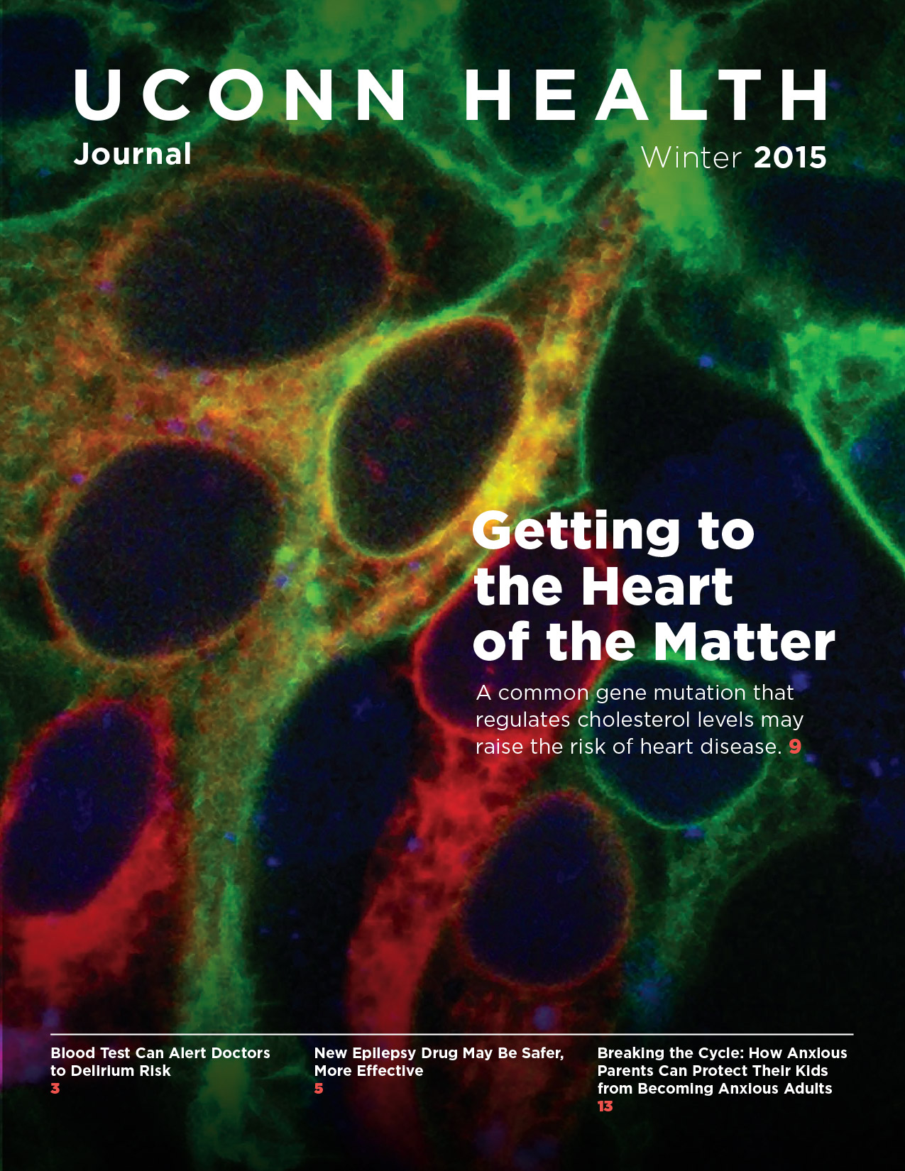 the cover of UConn Health Journal's Winter 2015 Issue
