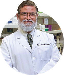 Dr. Pramod K. Srivastava, researcher and director of the Carole and Ray Neag Comprehensive Cancer Center