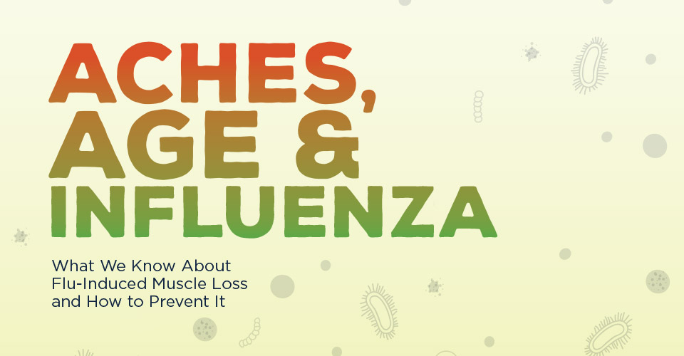Aches, Age and Influenza. What we know about Flu-induced muscle loss and how to prevent it.