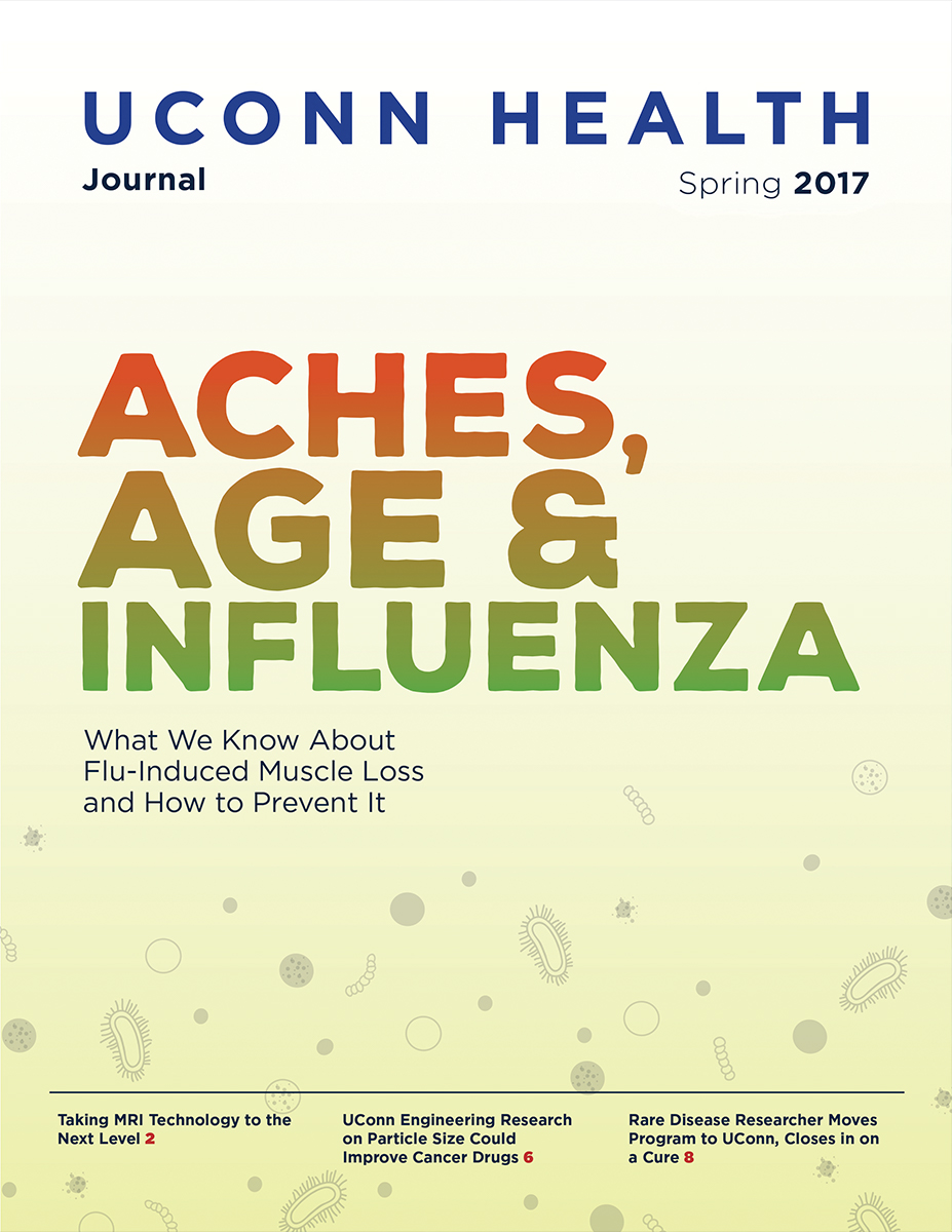 the cover of UConn Health Journal's Spring 2017 Issue