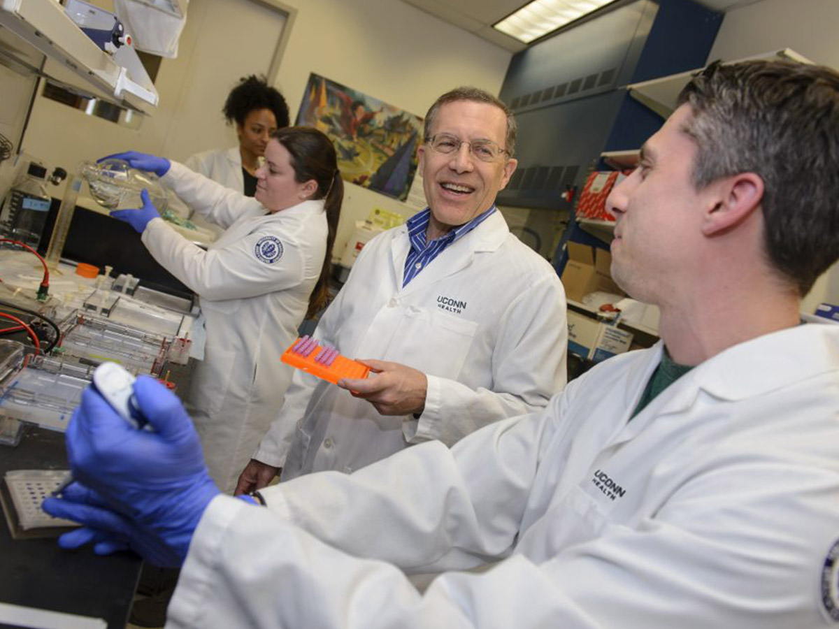 An earlier study by Dr. Andrew Arnold (center) provided the basis for the new research on parathyroid carcinoma genes.