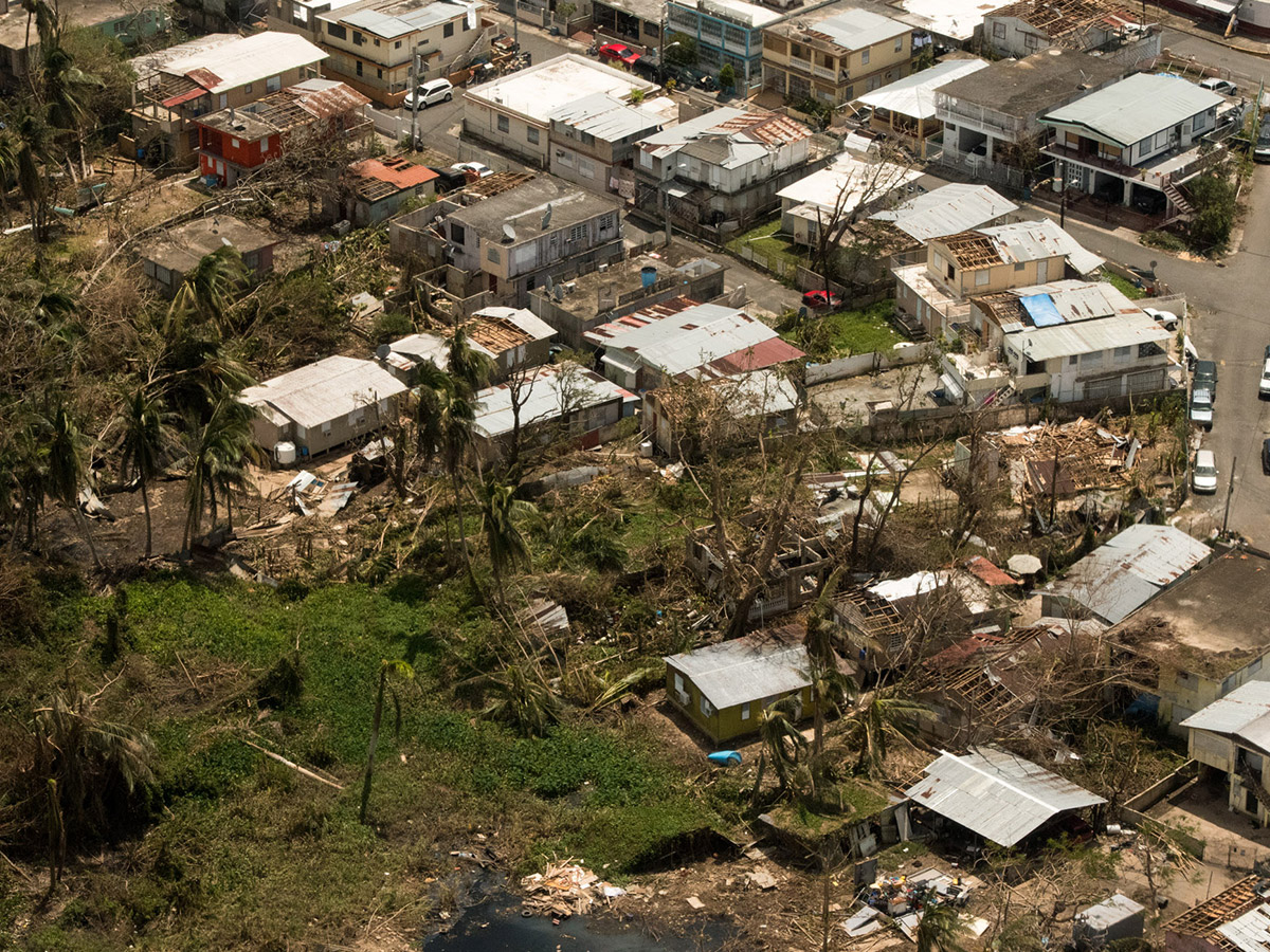 the devastation left by hurricane maria on Puerto Rican homes
