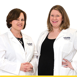 Dr. Cathy Trahiotis and Dr. Lauren Brennan
