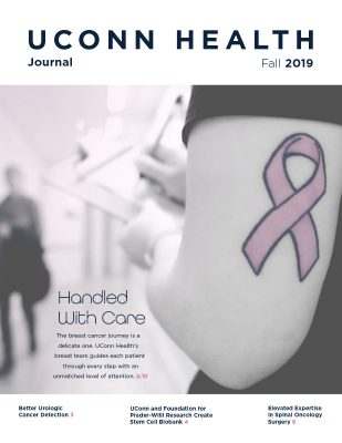 UConn Health Journal cover of fall 2019